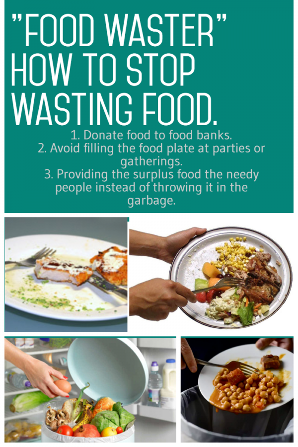 A poster against food waste by M.